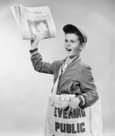 Newspaper Boy Image