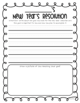 new years resolution paper