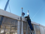Our sweeps helped install the chimneys at Washington, D.C.'s National Mall in 2013 to support the Wood Stove Challenge.