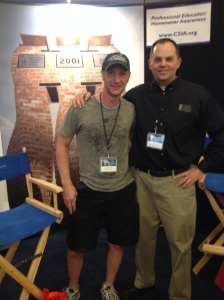 New York home inspector Josh Amodio, left, with Tom Spalding of the Chimney Safety Institute of America.