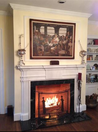 Here's a photo of a neat total restoration done in January 2014 in Ardmore, Pennsylvania. Credit goes to Benjamin Cross of D.J. Cross, Inc., of Media, PA. The fireplace dated to the 19th Century. Chimney Safety of America provided this picture to the Washington Post for their story on fireplace cleaning.