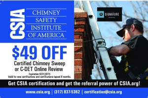 An example of the type of postcard that chimney industry companies will receive in the mail.