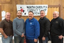 NCCSA and CSIA Board Members pose with CSIA's Education Director, Ashley Eldridge
